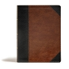 CSB Tony Evans Study Bible Black/Brown leathertouch